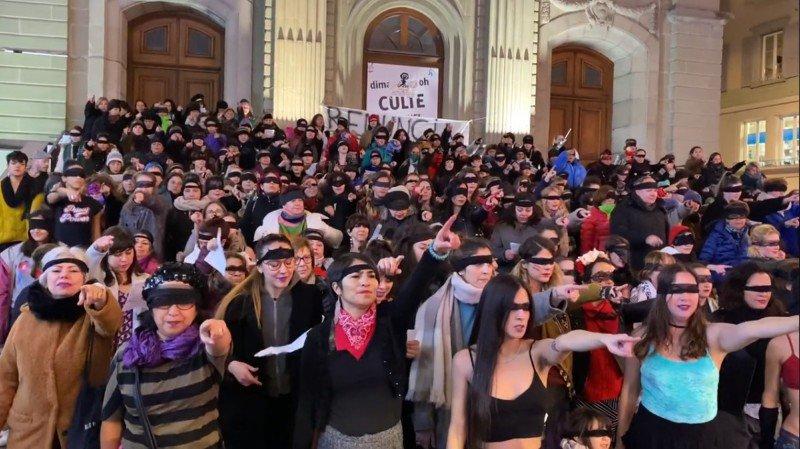 Du Chili à Lausanne, une flashmob contre les violences faites aux femmes