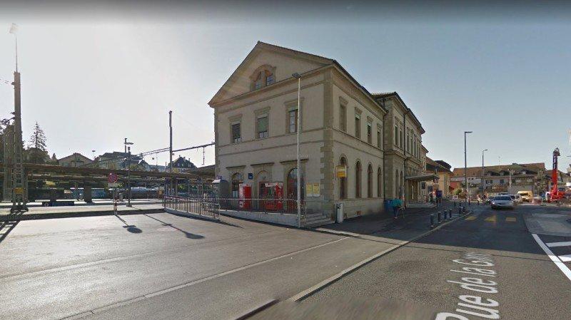 Le conducteur de train a été agressé dans le passage sous voie de la gare de Payerne.