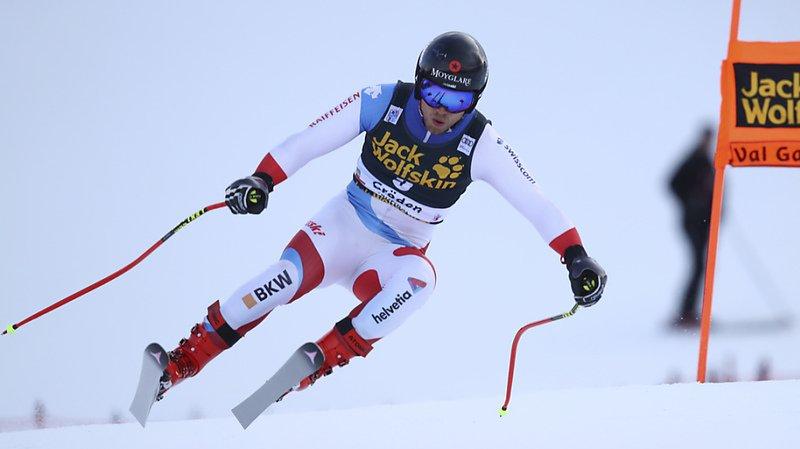 Ski alpin: Mauro Caviezel termine en tête du 1er entraînement de la descente de Wengen
