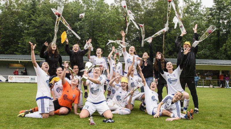 Les filles de Pied du Jura ont fêté comme il se doit leur promotion en 1re ligue.