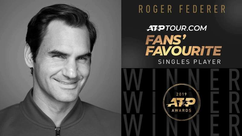 Tennis: pour la 17e fois de suite, Roger Federer est le joueur le plus aimé des fans