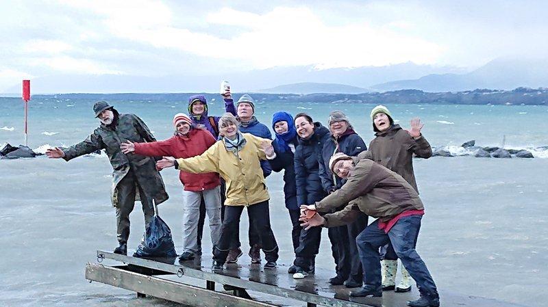 Pour la dernière sortie à Allaman, les participants avaient le sourire pour affronter la pluie et le vent.