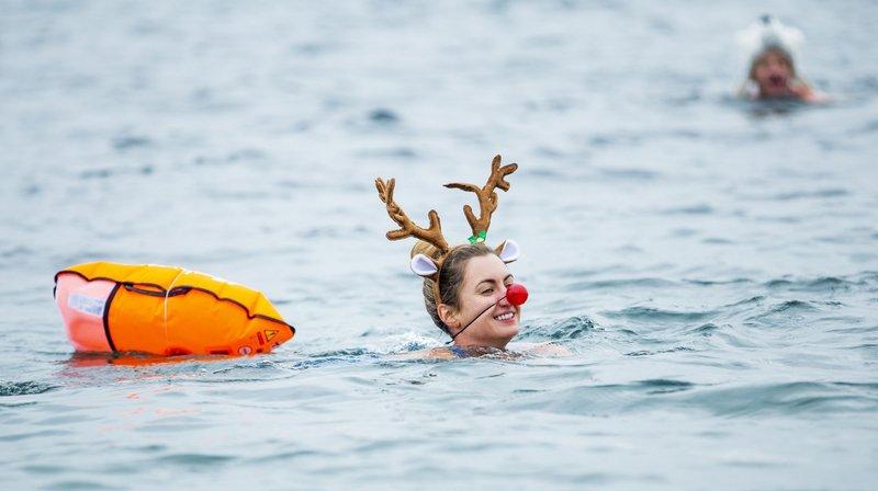 Comment se jeter à l'eau du lac en hiver, sans danger