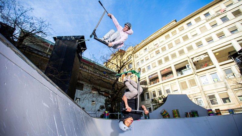 Des riders de La Côte dans un spectacle urbain des JOJ