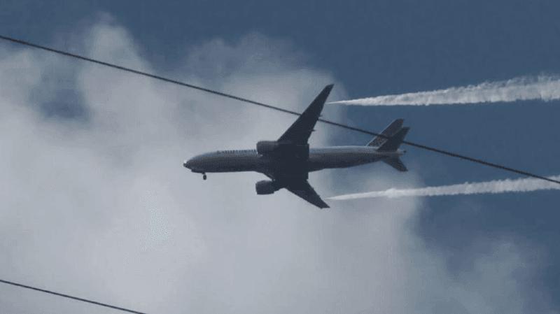 Le carburant a été largué à relativement faible altitude, selon les pompiers.