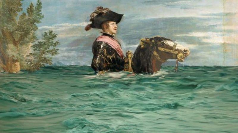 Peintures classiques détournées pour alerter sur le climat