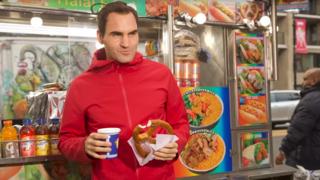 Roger Federer court dans les rues de New York pour le clip promotionnel d'une start-up suisse
