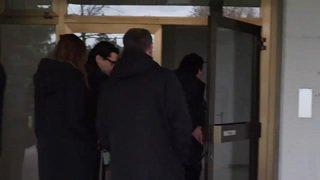 Arrivée au tribunal de Sierre de l'ancien joueur de tennis Yves Allegro