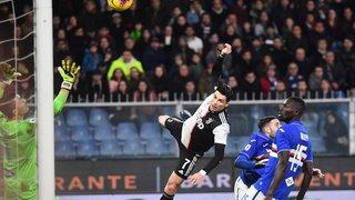 Football: la tête de Cristiano Ronaldo était à 2 m 56 du sol quand il a marqué face à la Sampdoria