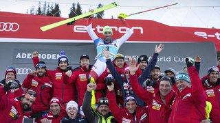 Ski alpin: Daniel Yule remporte le slalom d'Adelboden dans une ambiance de folie, Zenhäusern 4e