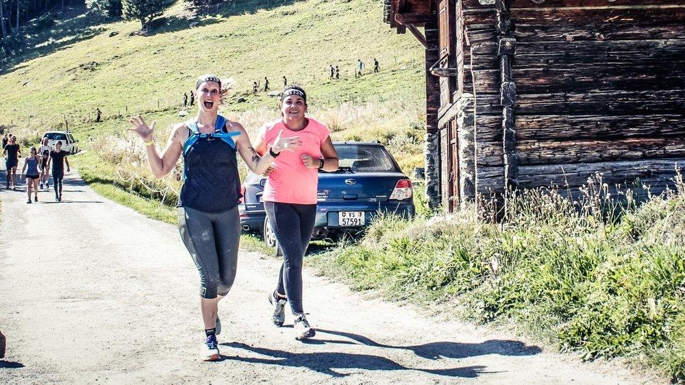 Initiée en 2016, l'amitié sportive qui lie Tania Schlatter (à g.) et Sabine Dos Santos est placée sous le signe du fun ascendant sourire.