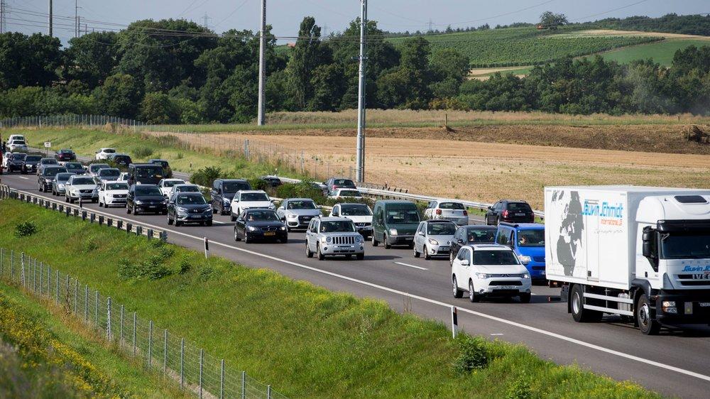 Sur l'A1 entre Nyon et Genève, les bouchons sont monnaie courante.