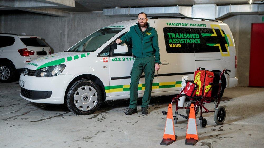 Depuis 2017, le technicien-ambulancier avec brevet fédéral Cyril Abel, a agrandi son entreprise, TransMed Assistance, pour répondre à la demande.