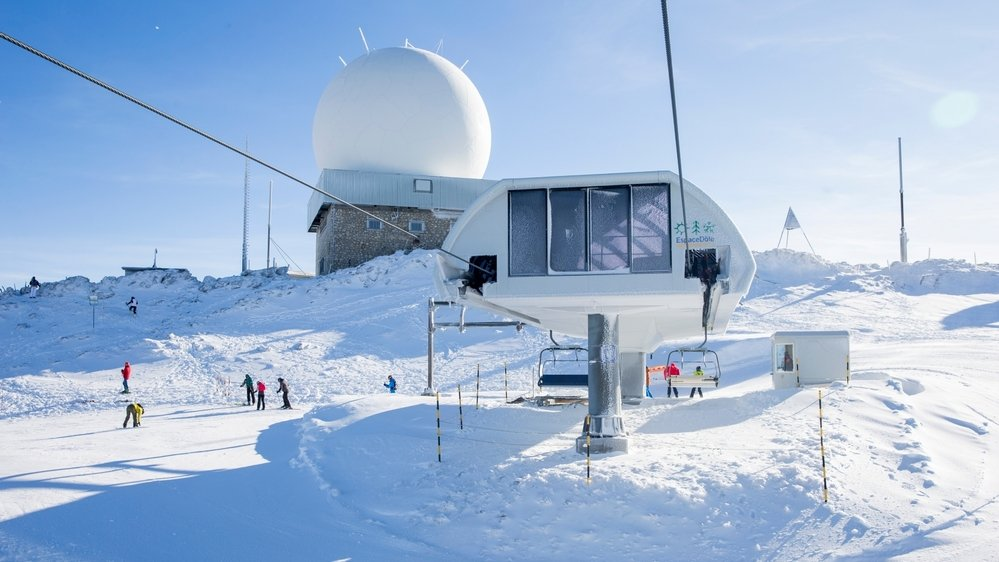 Le haut de la Dôle, photographié en décembre 2019. Depuis, le manteau neigeux est resté suffisant pour skier.
