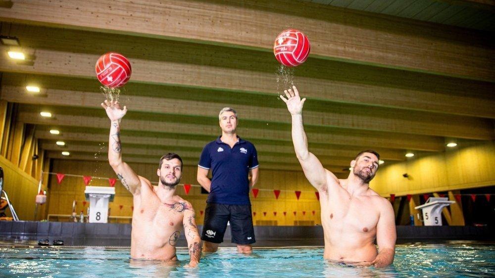 Après le coach Zoltan Hyc (au centre), Adam Rostàs (g.) puis Levente Szabo (d.) sont venus renforcer un CN Nyon ambitieux.