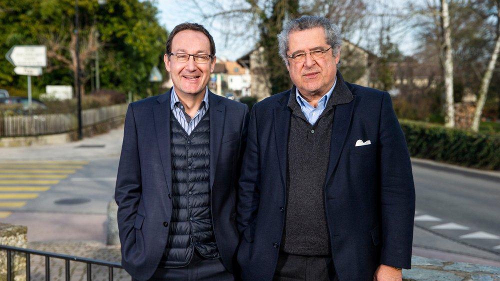 Gérard Produit, syndic de Coppet, et Pierre-Alain Schmidt, son homologue de Mies, sont prêts à sauter le pas.