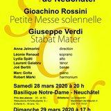 Société chorale de Neuchâtel - Rossini et Verdi