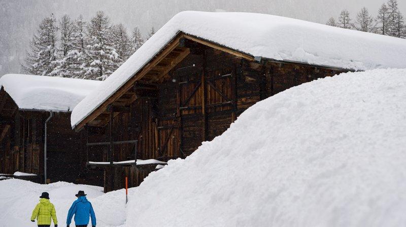 En décembre dernier, beaucoup de neige était tombée dans la vallée de Conches, en Valais.