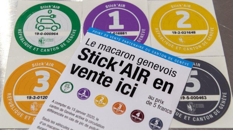 Genève: aujourd'hui les véhicules polluants doivent rester au garage