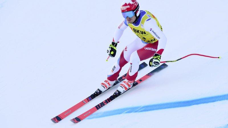 Ski alpin: Loïc Meillard en tête après la première manche du géant de Garmisch Partenkirchen