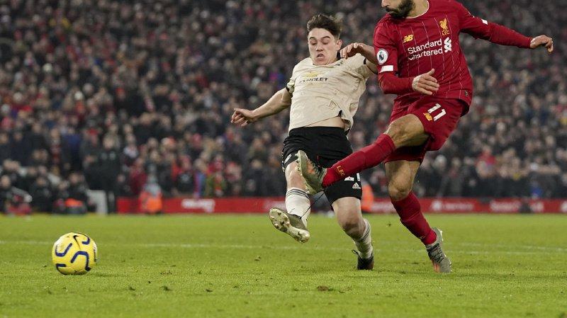 Football: Liverpool bat Manchester United et prend 16 points d'avance