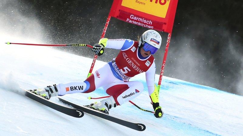 Ski alpin: Corinne Suter remporte le Super-G de Garmisch, Wendy Holdener 3e