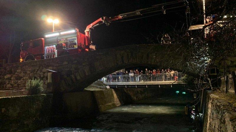 Valais: sauvetage d'un âne tombé dans une rivière à Bramois