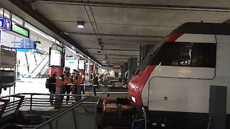 Lucerne: le train ne freine pas à temps, 12 personnes légèrement blessées