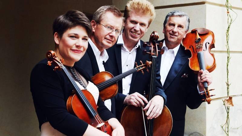 Le quatuor: Jana Vonášková, Vlastimil Holek, Michal Kaka et Josef Kluso.