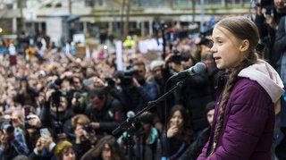 Lausanne: près de 10'000 manifestants ont défilé au côté de Greta Thunberg