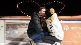 Les amoureux se sont retrouvés sur la patinoire de Saint-Cergue