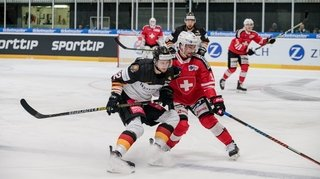 Hockey: la Suisse domine l'Allemagne aux Prospect Games