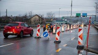 Gland: le pont de l'A1 a rouvert sauf pour les poids lourds