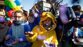 Genolier a fait son carnaval sur le thème des superhéros