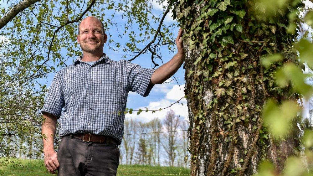 Christian Streit, agriculteur à Aubonne, est très engagé dans la préservation des sols.