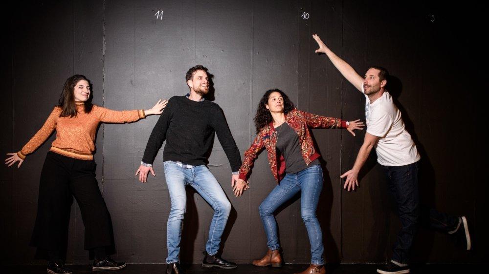 Le comité du théâtre, de gauche à droite: Coralie Gil, Julien Rochat, Vanessa Lecoultre et Grégory Vagnières.