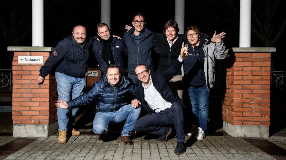 Une nouvelle équipe à l'effectif bien étoffé (de gauche à droite, de haut en bas): Daniel Gerber, Vincent Turmine, Laurent Ceron, Christine Sutter, Trude Bersier, André Mazzoni et Florian Simmen (absents sur la photo: Mélanie Verdonck et Roman Eifler).