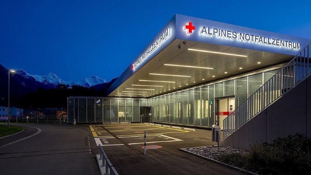 L'Hôpital d'Interlaken, où le jeune Chaux-de-Fonnier est hospitalisé.