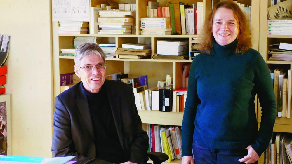 Daniel Luthi et Laurence Marti: l'éditeur et la sociologue collaborent au service de l'histoire sociale de la région.