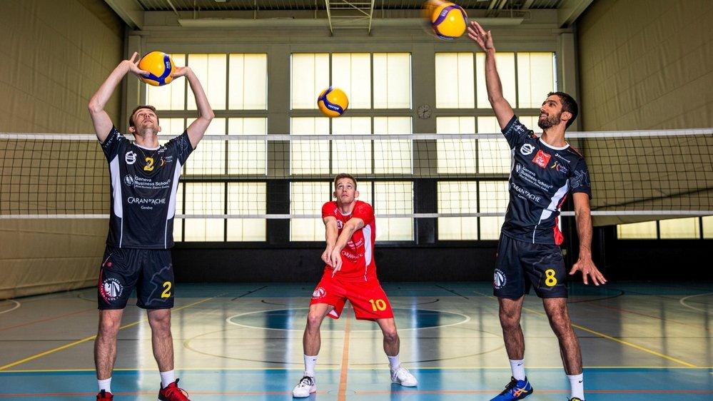 À chacun son exercice de prédilection. Robin Rey (à g.) est à la passe, Yann Prönnecke (au milieu) en défense et Quentin Zeller à l'attaque.