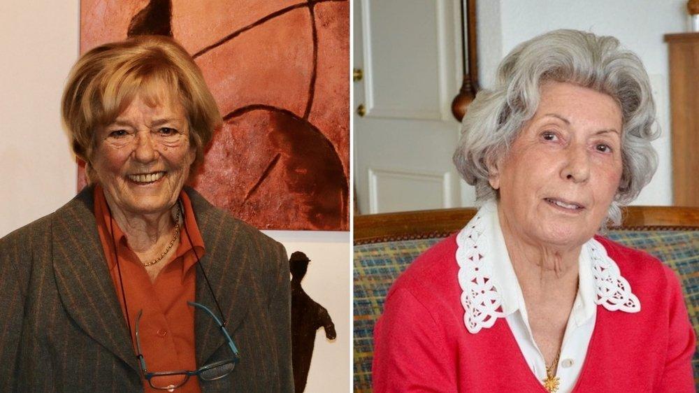 Violaine Bolay (à g.) et Gabrielle Sénéchaud (à dr.) ont œuvré pour que l'histoire de Begnins ne tombe pas dans l'oubli.