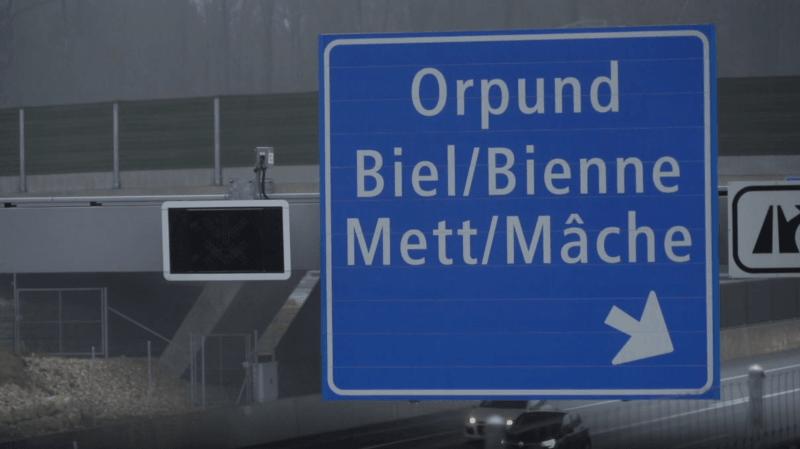 Au début de l'an dernier, la ville de Bienne a obtenu l'accord de la Confédération pour des panneaux en français sur le contournement autoroutier de l'A5.