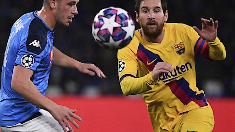 Football – Ligue des champions: Naples résiste au Barça, le Bayern en force