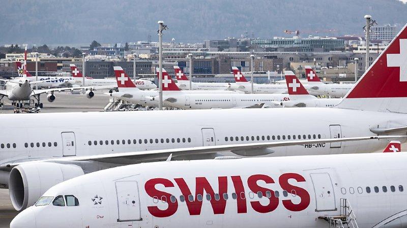 Swiss a dû réduire dernièrement de plus de 80% la fréquence de ses vols, au fur et à mesure de la propagation du Covid-19. Plus de deux-tiers de la flotte a déjà été retirée du service (ARCHIVES).