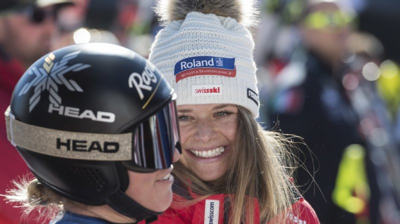 Ski alpin: Lara Gut-Behrami remporte la descente de Crans-Montana, le globe pour Corinne Suter