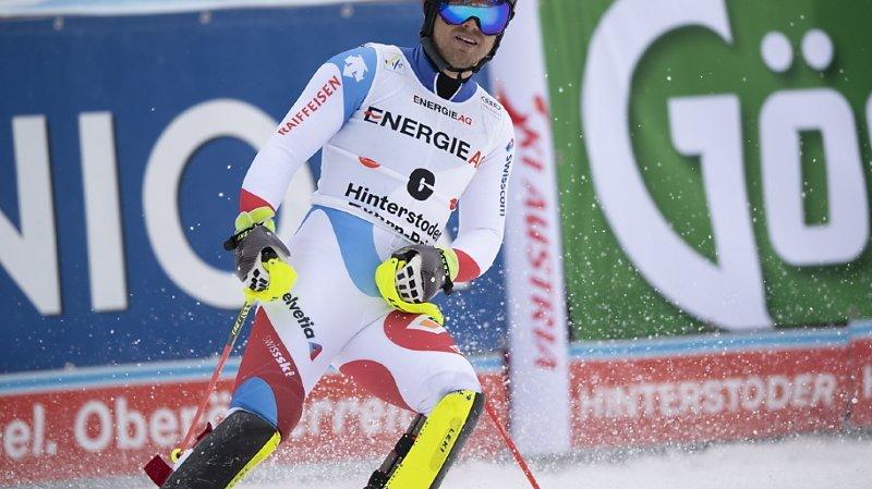 Caviezel en tête après la première manche — Ski alpin