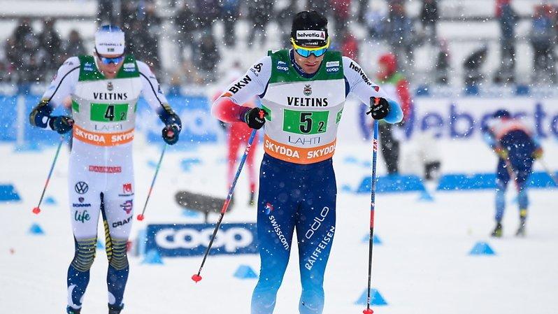 Dario Cologna a terminé sixième du 50 km d'Holmenkollen.