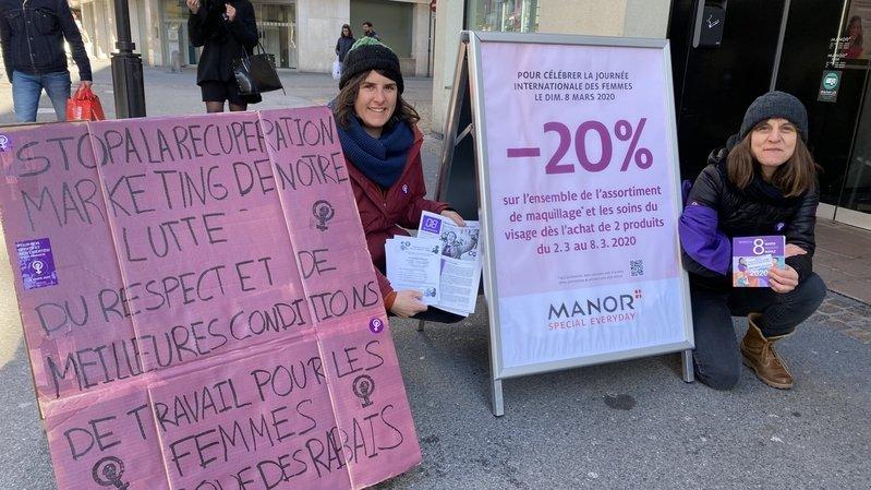 Morges: une action promotionnelle de Manor épinglée par des féministes