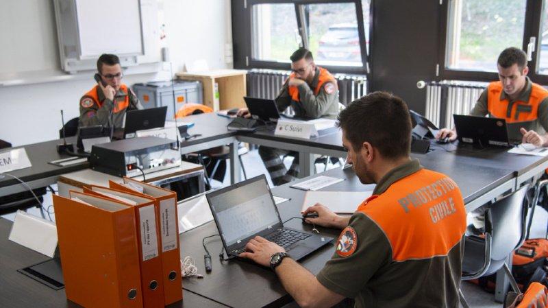 Gollion: 350 membres de la protection civile à pied d'oeuvre