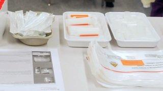 Ouverture d'un centre de triage pour le coronavirus à l'hôpital de l'Île